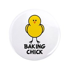 "Baking Chick 3.5"" Button"