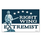 RightWingExtremist Rectangle Decal