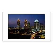 Atlanta City Skyline Rectangle Decal
