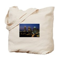 Atlanta City Skyline Tote Bag