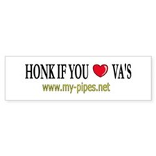 Honk if you love VA's Bumper Bumper Sticker
