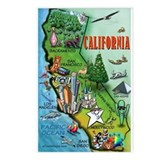 Cute California map Postcards (Package of 8)