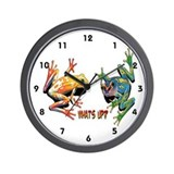 What's Up Frogs Wall Clock