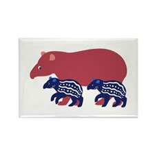 Tapir Family B Rectangle Magnet
