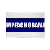 Impeach Obama Blue Rectangle Magnet (100 pack)