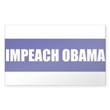 Impeach Obama Blue Rectangle Decal