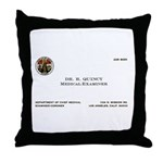 Doctor Quincy Throw Pillow