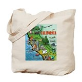 Funny California map Tote Bag