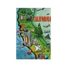 Cute California Rectangle Magnet