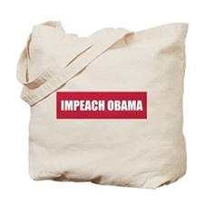 Impeach Obama Red Tote Bag