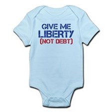 GIVE ME LIBERTY (NOT DEBT) Onesie