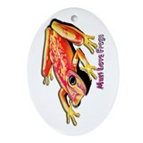 Must Love Frogs Oval Ornament