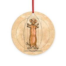 daVinci's Dachshund Ornament (Round)