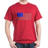Dog Tracks American Flag Black T-Shirt