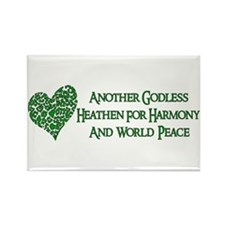Godless For World Peace Rectangle Magnet (100 pack