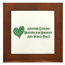 Godless For World Peace Framed Tile