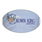 Crown King Oval Sticker (10 pk)