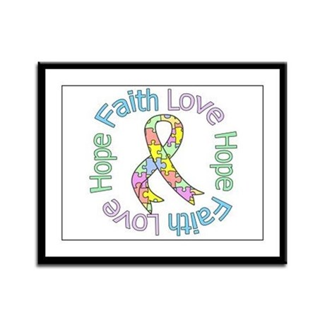 Autism FaithLoveHope Framed Panel Print
