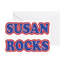 Susan Rocks Greeting Card