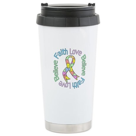 Autism FaithLoveBelieve Ceramic Travel Mug