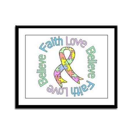 Autism FaithLoveBelieve Framed Panel Print