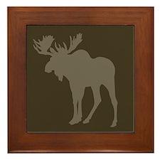 Chocolate Moose Rustic Framed Tile
