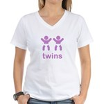 Twins Women's V-Neck T-Shirt