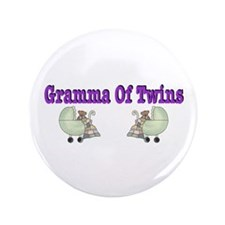 "Gramma Of Twins 3.5"" Button"