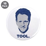"Geithner Tool Blue Distressed 3.5"" Button (10 pack"