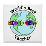 Second Grade Teacher Tile Coaster