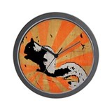 Retro Squirrel Wall Clock