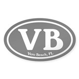 VB Vero Beach Oval Oval Sticker (10 pk)