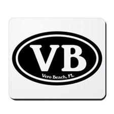 VB Vero Beach Oval Mousepad