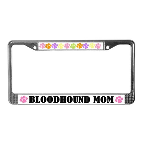 Bloodhound Mom Dog License Frame Gift
