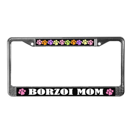 Borzoi Mom License Frame Gift