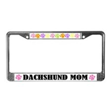 Dachshund Mom Dog License Plate Frame