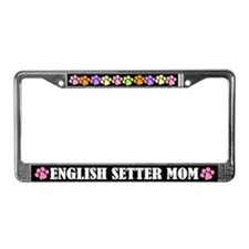 English Setter Mom License Plate Frame Gift