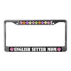 English Setter Mom License Plate Frame Gift