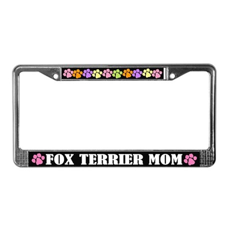 Fox Terrier Mom License Plate Frame Gift