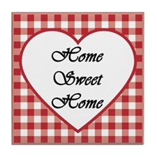 Red Home Sweet Home Tile Coaster