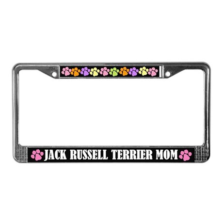 Jack Russell Mom License Plate Frame Gift