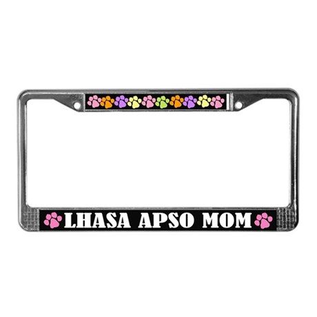Lhasa Apso Mom License Plate Frame Gift
