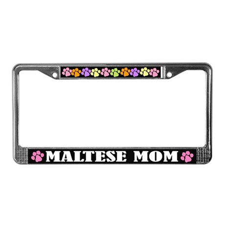Maltese Mom License Plate Frame Gift
