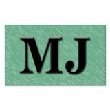 MJ Mary Jane Marijuana Rectangle Decal