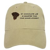 Smart Chocolate Labrador Baseball Cap
