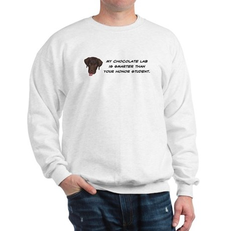 Smart Chocolate Labrador Sweatshirt