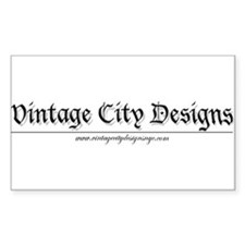 Vintage City Design Rectangle Decal