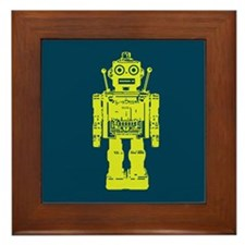 Red Robot Framed Tile