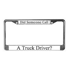 Truck Driver License Plate Frame
