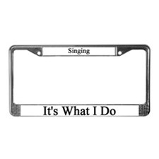 Singer License Plate Frame